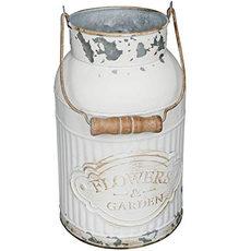 Shabby Chic Metal Milk Jug/ Flower Bucket
