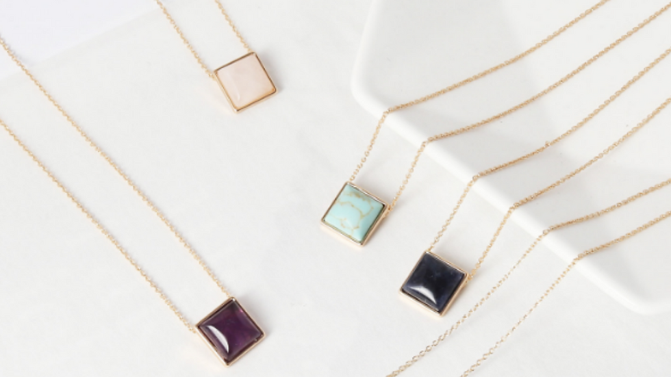 Square Drop Necklace