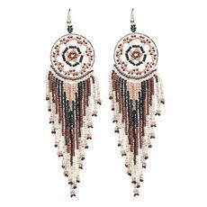 Tarsus Dream Catcher Bead Earrings