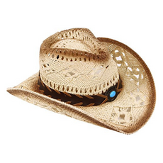 Livingston Straw Banded Cowgirl Hat