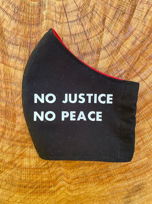 """NO JUSTICE NO PEACE"" Mask"