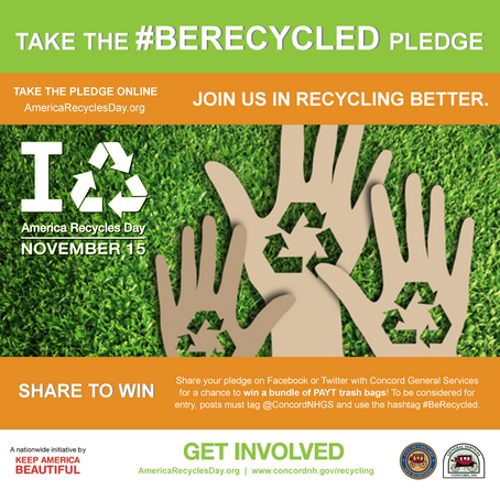 Pledge to Recycle Better for Chance to Win Concord Trash Bags