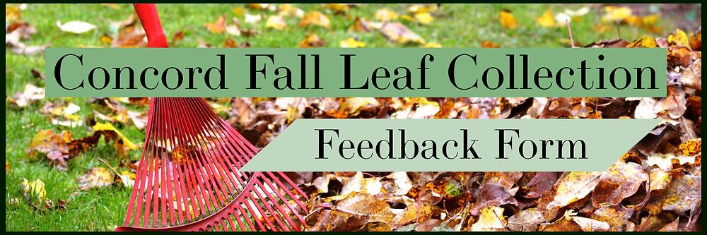 Fall Leaf Collection Feedback Form