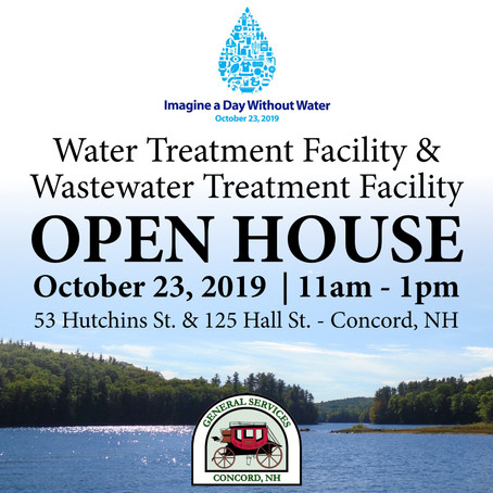 "Open House of Concord Water Facilities to be Held in Coordination with ""Imagine a Day Without Water"""