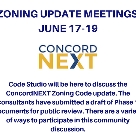 ConcordNEXT Zoning Code Update Meetings