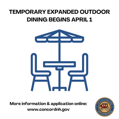 Temporary Expanded Outdoor Dining Resumes April 1 in Concord