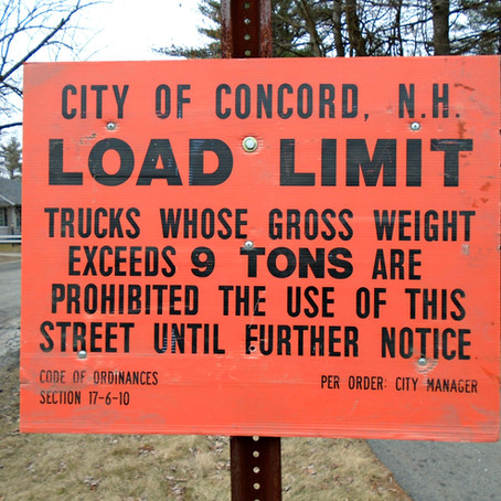 Concord Road Load Limits Posted on March 9
