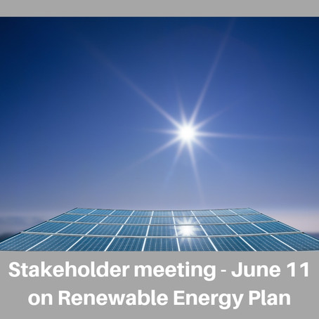 Stakeholder Committee Meeting on Renewable Energy Plan June 11