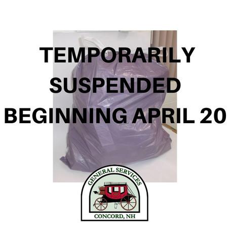 Concord Temporarily Suspends PAYT Program