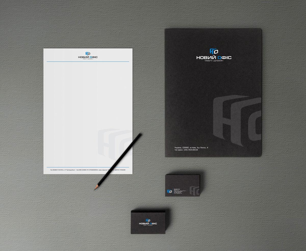 Business cards, letterhead, folder