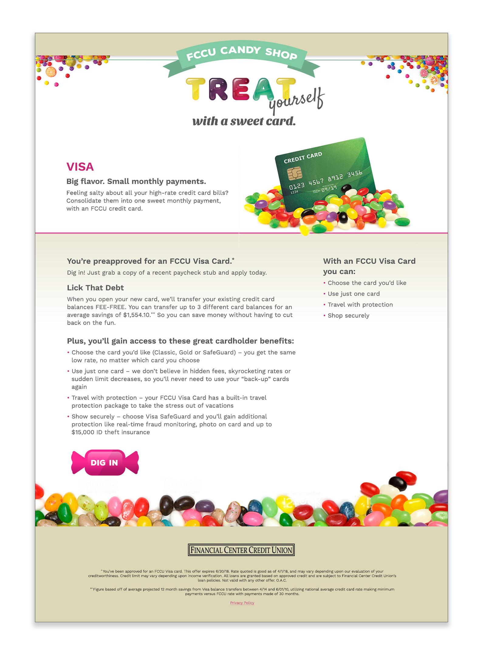 Visa Card Landing Page