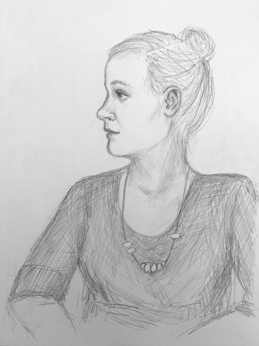 Kim's portrait #2