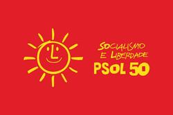 Bandeira PSOL Vermelha
