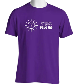 Camiseta Lilás do PSOL