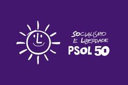 Bandeira PSOL Lilás