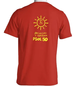 Camiseta Vermelha PSOL Costas