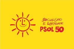 Bandeira PSOL Amarela