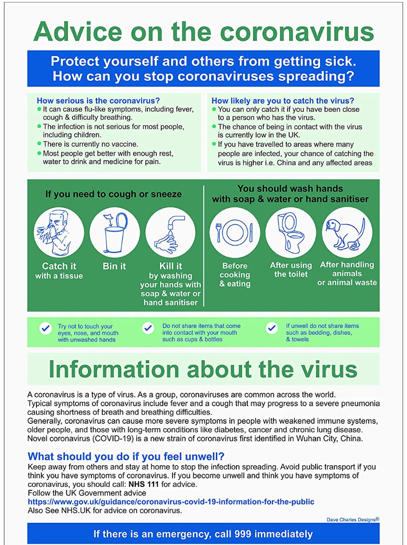 advice on coronarirus
