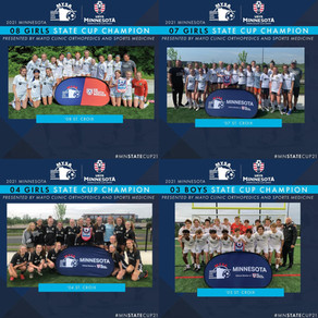 State Cup 2021 Showing by St. Croix Soccer Club