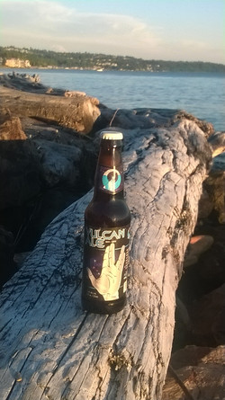 "Vulcan Ale on a ""Log"" igal perch"