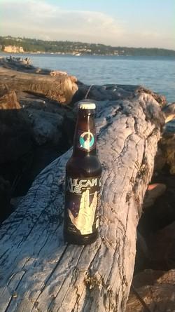 "Vulcan Ale on a ""Log"" igal perch"