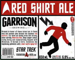 Star Trek Red Shirt Imperial Red Ale