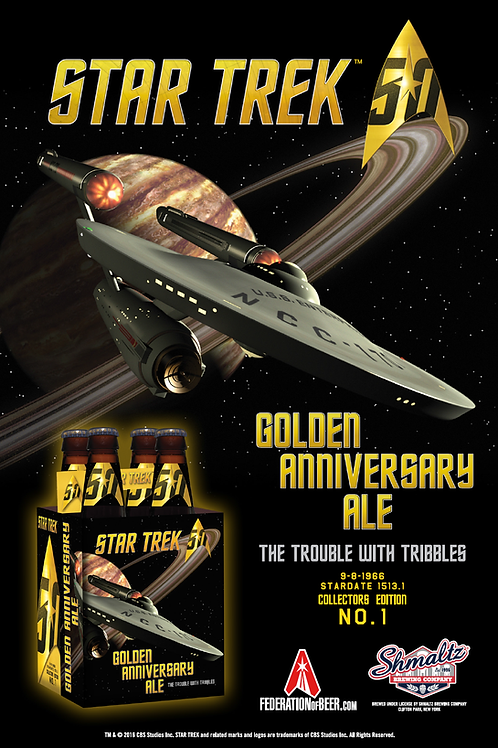 50th Golden Anniversary Ale - Trouble with Tribbles Poster