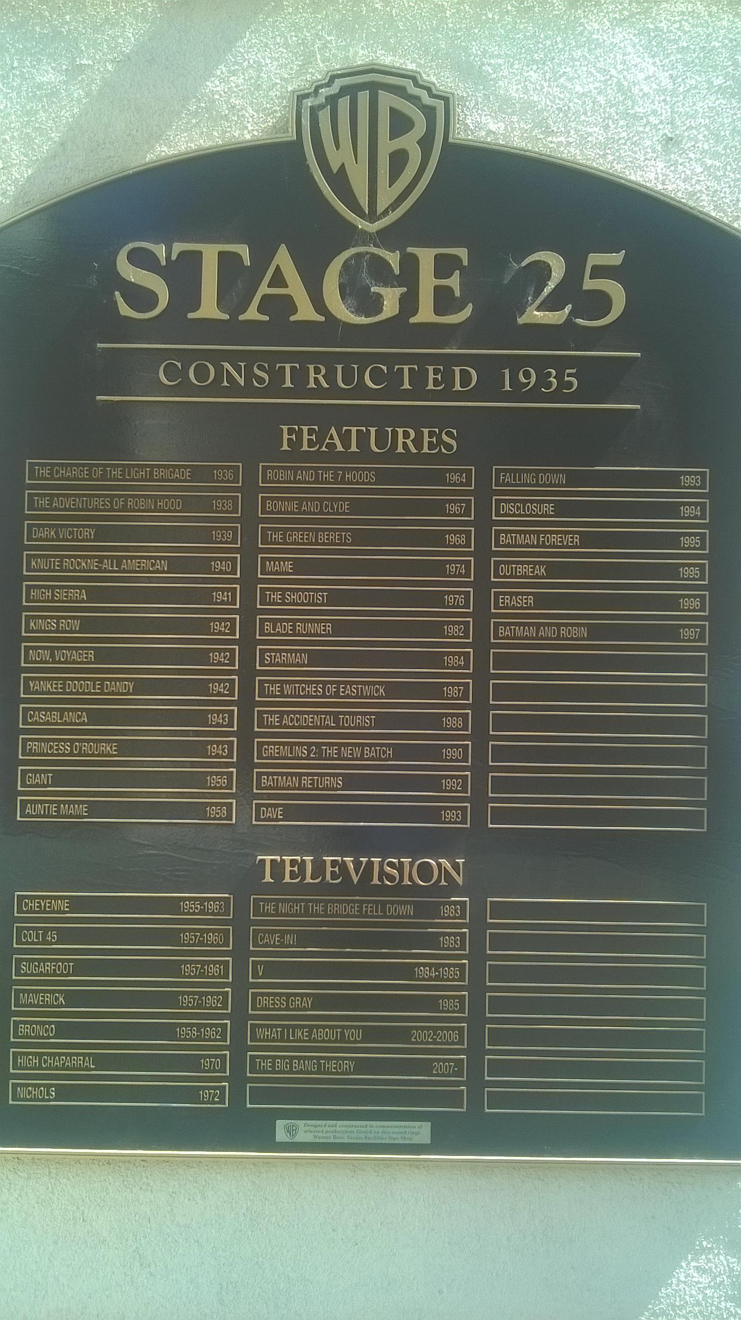 Stage 25 films Big Bang Theory