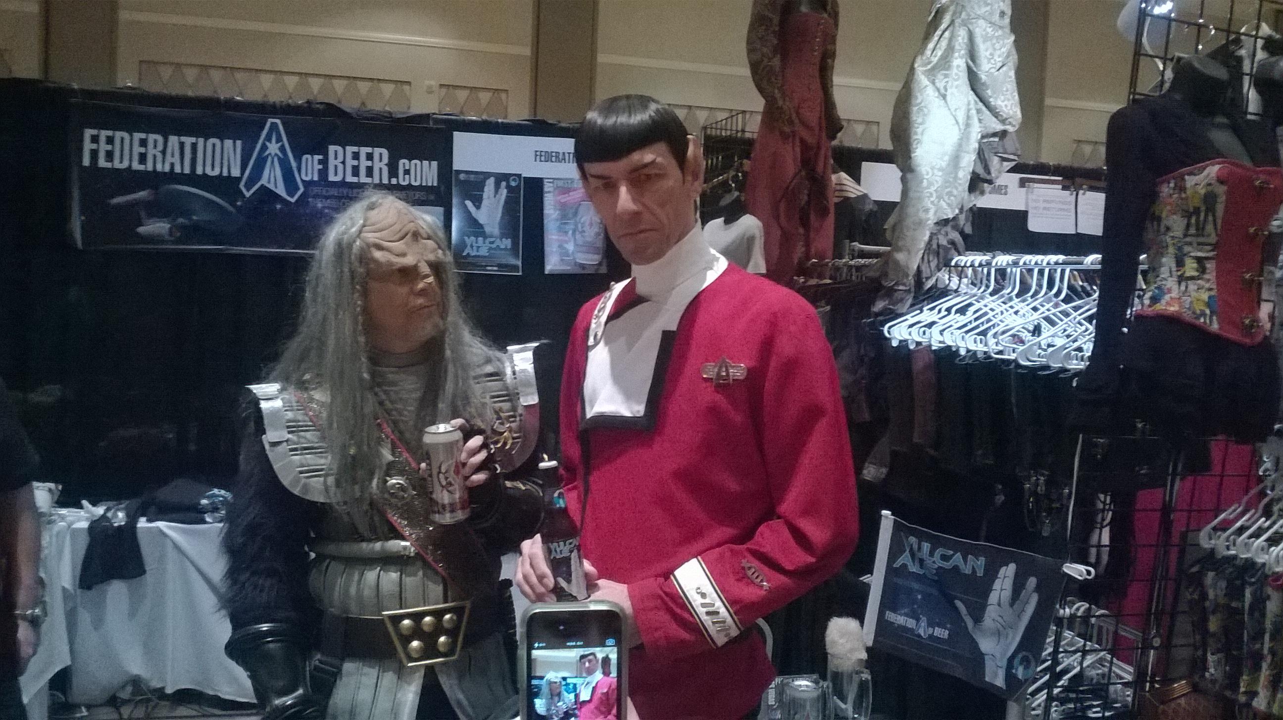 Spock visiting Federation of Beer