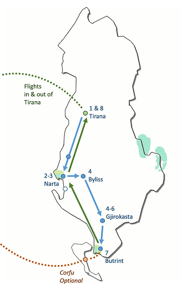 Route Map SSA Albania.png