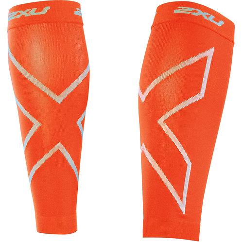 2XU Protector de Gemelos de Compresión Calf Sleeves | Naranja