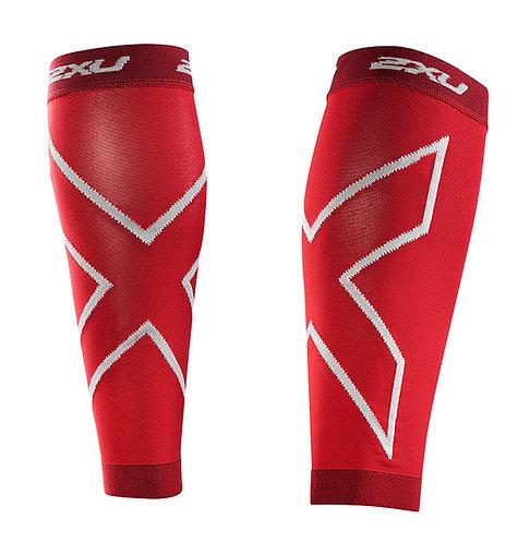 2XU Protector de Gemelos de Compresión Calf Sleeves | Rojo