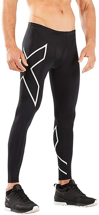 2XU Compression Tights Pants Black | Silver Logo
