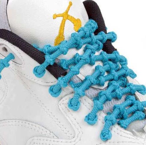 Xtenex Adjustable Shoelaces | Light blue