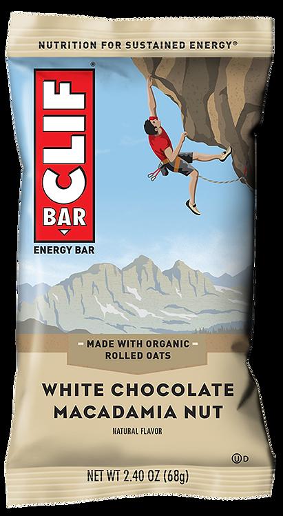 Barra energética de avena con nuez de macadamia y chocolate blanco | Clif Bar 68g
