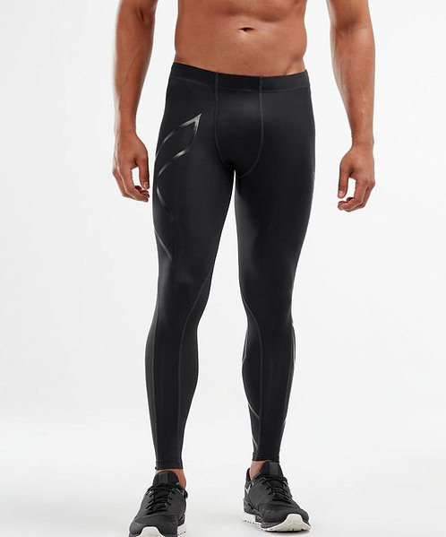 2XU Recovery Compression Tights Pants Black | Black Mate Logo