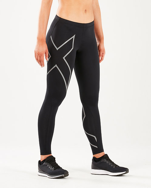 Calças 2XU Women Compression Tights Preto | Logo Prata