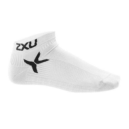 2XU Low Rise Performance Sock Short Socks | White