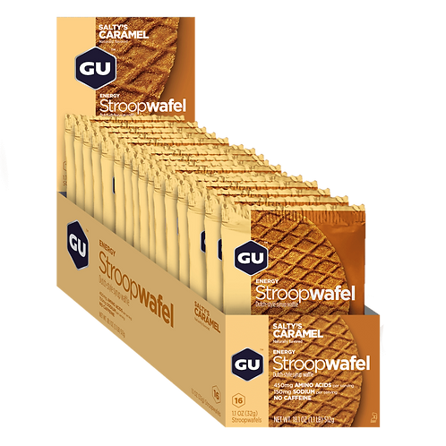 Caixa de 16 Unidades Energy Stroopwafel | Salty`s Caramel 480g