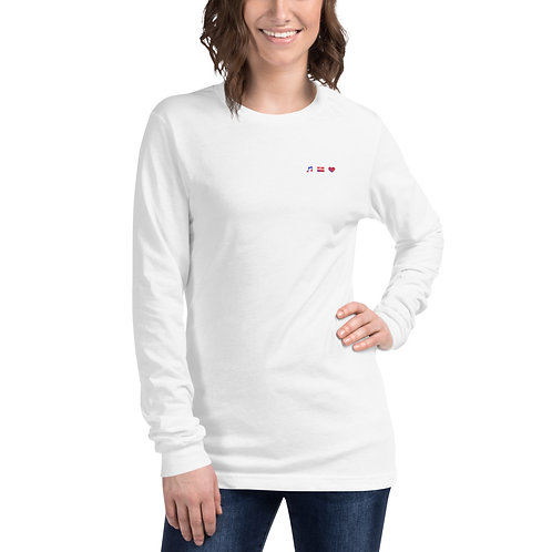 Unisex Music Is Passion Long Sleeve Tee