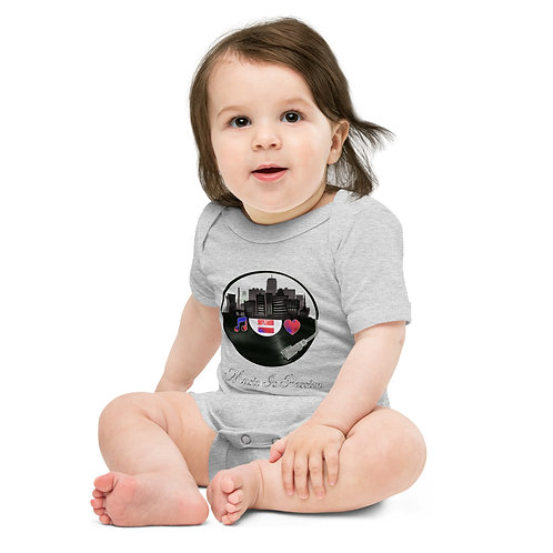 Baby MIP Records city short sleeve one piece