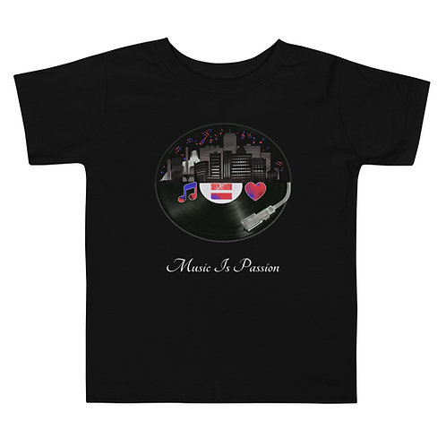 Toddler MIP Records City w Confetti Short Sleeve Tee