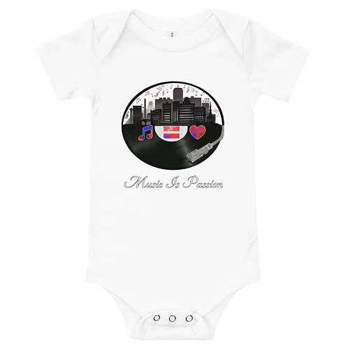 Baby MIP Records City w/confetti short sleeve one piece