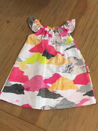 Pink Grey Clouds ☁️ Dress