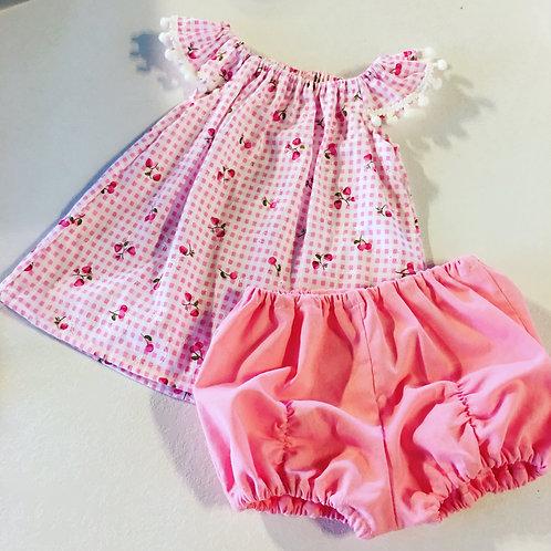 Strawberry 🍓 Pompom Top & Pucker Shorts Set