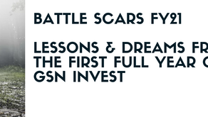 Battle-scars FY21 : Lessons and dreams from the first full year of GSN Invest 🐺