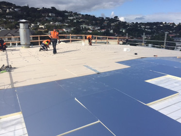 RL PIR and RL Roofboard (HD) installed over polystyrene infills as part of overlay system