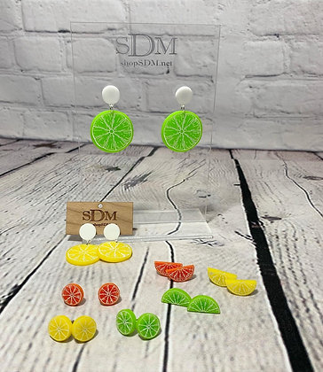 Citrus fruit earrings