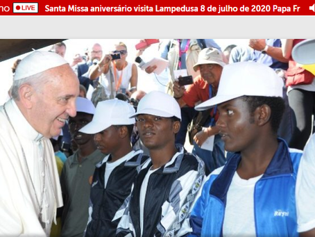Papa recorda 7 anos da visita a Lampedusa com Missa na Santa Marta e é iniciada a Rede Clamor Brasil