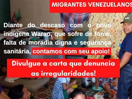 Org's da sociedade civil tornam público carta com denúncias sobre condições precárias de migrantes
